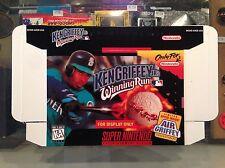 Ken Griffey Jr Winning Run Baseball SNES DISPLAY BOX ONLY (super nintendo promo)