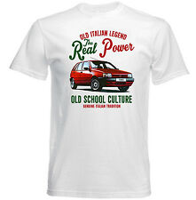 VINTAGE ITALIAN CAR FIAT TIPO 1990 Real Power-Nuova T-shirt di cotone