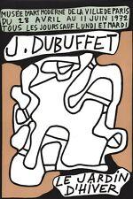 Plakat. Ausstellung jean Dubuffet. die Garten d'Winter. Paris. 1972