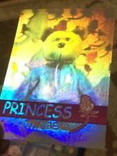 Ty Beanie Babies Trading Card Princess The Bear Hologram, Series 2