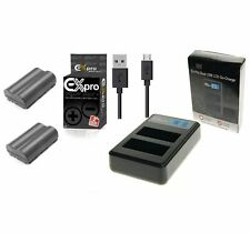 Ex-Pro BP-511 CB5L LCD DUAL Go-Charge USB  2xBatteries for Canon DM-MV300 MV500