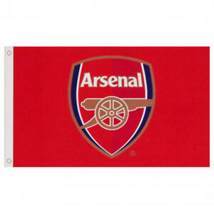 ARSENAL FC CORE CREST FLAG BANNER 5' X 3' ft FOR WINDOW CAR NEW GIFT XMAS