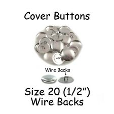 "Flat Back 1//2/"" - 12mm Cover Buttons // Fabric Covered Buttons 150 Size 20"