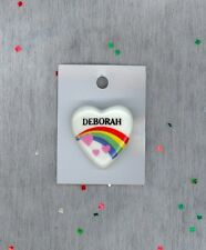 Pin Brooch Personalized Deborah Clearance! Rainbow & Hearts Fashion