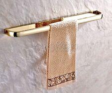 Gold Color Brass Wall Mounted Bathroom Single Towel Bar Towel Rack Rails sba843