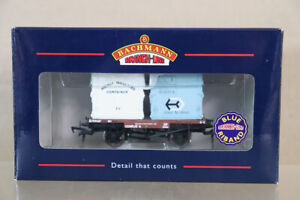 BACHMANN 37-976 BR BROWN CONFLAT A WAGON B709437 & TWO AFU CONTAINER LOAD nz