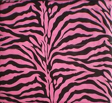 Hot Pink Zebra Print Queen Size Sheet Set 4 PC Safari Animal Print Bedding