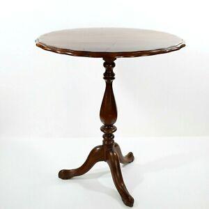Vintage Tilt Top Oval Wooden Table