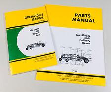 Operators Manual Parts Catalog Set For John Deere No. 594Lw Side Delivery Rake