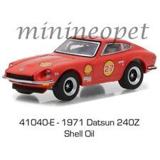 GREENLIGHT 41040 E 1971 DATSUN 240Z SHELL OIL #27 1/64 DIECAST MODEL CAR RED