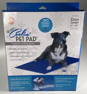"K&H Pet Products Coolin Pet Pad Extra Large Blue 27"" x 38"" x 0.75"" Dog XL"