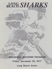 1977 LONG BEACH SHARKS VS SAN FRANCISCO SHAMROCKS 1ST GAME PHL HOCKEY PROGRAM