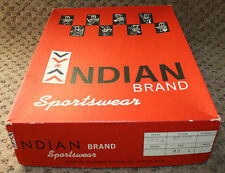 INDIAN Brand Sportswear Large Sweater Box Vintage Collectible Native American