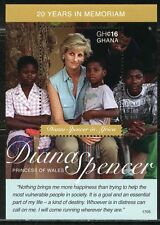 GHANA 2017 20th MEMORIAL ANNIVERSARY OF PRNCESS DIANA S/S II  MINT NH