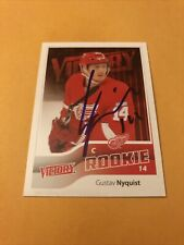 Gustav Nyquist Signed Detroit Red Wings Rookie Card Columbus Blue Jackets