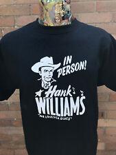 ***NEW*** 'HANK WILLIAMS SR' BLACK T SHIRT ROCKABILLY HILLBILLY 40s/50s FREEPOST