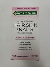 Nature's Bounty Extra Strength Hair, Skin and Nails -150 Rapid softgels 12/19