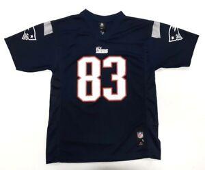 New England Patriots Jersey Youth Wes Welker #83 NFL Blue Boys NFL