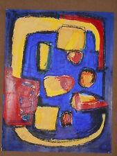 Tableau Cubiste acrylique sur papier 50 cm x 65cm - Bal de Fete