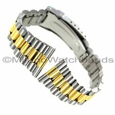 22mm Morellato Stainless Two Tone Fold Over Clasp With Safety Mens Watch Band XL
