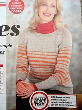 LADY'S SWEATER/JUMPER ~ Knitting Pattern ~ sizes 32-50 ins ~ NEW