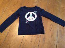 Girl's Circo Black Long Sleeved Peace Sign Shirt Size S(6/6X)