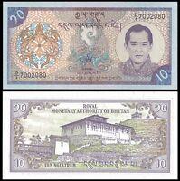 Bhutan 10 NGULTRUM ND 2000 P 22 UNC