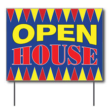 """Open House Curbside Sign, 24""""w x 18""""h, Full Color Double Sided"""