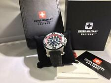 Swiss Military Calibre Men's Hawk Chrono Black Dial / Red Inner Bezel Watch