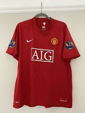 2007-09 Manchester United Home Shirt - XL -*Ronaldo 7 On Back + Patches*