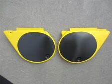 Yamaha YZ 250D 400D Side Covers 1977 1W3 1W4 Yellow Injection Moulded NOS Replic