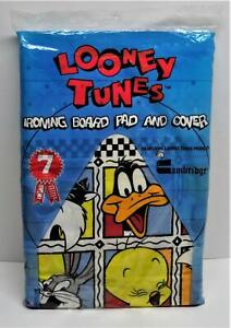 Looney Tunes 1993 Cambridge Cotton Ironing Board Cover And Pad Set NOS Vintage