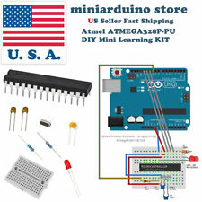 ATmega328P DIY arduino Mini Learning Kit 22pF 100nF 16MHz crystal breadboard