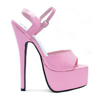 "Ellie 652-JULIET Pink 6.5"" Stiletto Heel Sandal"