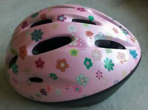 🌸 Toddler Girl's Pink Flower Bike Helmet Bicycle Youth Safety