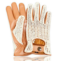 MEN'S LEATHER CROCHET UNLINED FASHION CLASSIC ENGLISH DRIVING GLOVES 506