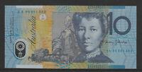 MacFarlane / Evans 1996 : First prefix AA96 Australian $10 Polymer Banknote, Unc