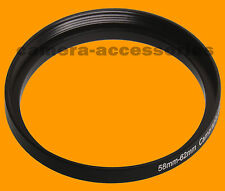 58mm to 62mm 58-62 Stepping Step Up Filter Ring Adapter 58-62mm 58mm-62mm