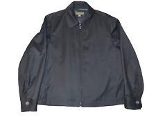 ERMENEGILDO ZEGNA Solid Black 100% Wool Mens Zipper Jacket Coat - Small / 48