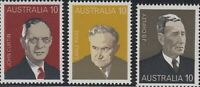 Australian 1975 MNH PM Stamps Set of 6x 10c - Third Prime Minister series Issues