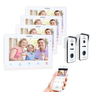 """TMEZON 10"""" WiFi Video Door Phone Intercom IP Monitor 720P Doorbell Camera System"""