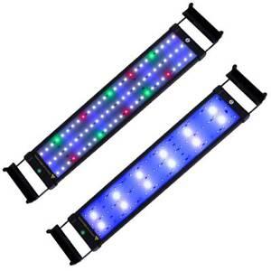 30-135 Aquarium LED Lighting Bar Full Spectrum Fish Tank Lights Over-Head Lamp