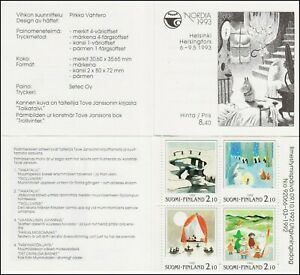 Moomin Finland Nordia Helsinki Mint booklet MNH 1992 (4) stamps.