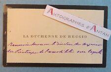 Duchesse de REGGIO 1915 / Famille OUDINOT Carte autographe Magasin le PRINTEMPS
