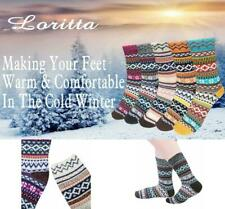 Vintage Style Winter Warm Thick Knit Wool Cozy Crew Socks, 5 Pairs FAST SHIPPING