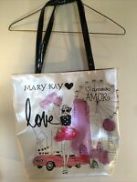 Mary Kay Tote Bag Purse Ivory Pink Car City Poodle Amour Amor Ferris Wheel
