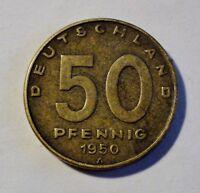 DDR - 50 Pfennig 1950 A - Rs: Industrie-Anlagen - vz / xf erhalten