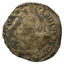 England Charles I 1625-1629 Silver Sixpence Tower Mint Crown MM S.2813
