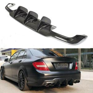 For Mercedes Benz W204 C63 AMG 12-15 Rear Bumper Diffuser Lip Carbon Fiber Refit