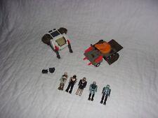Vintage Coleco StarCom Toy Lot - 2 Vehicles, 5 Figures, 2 Backpacks